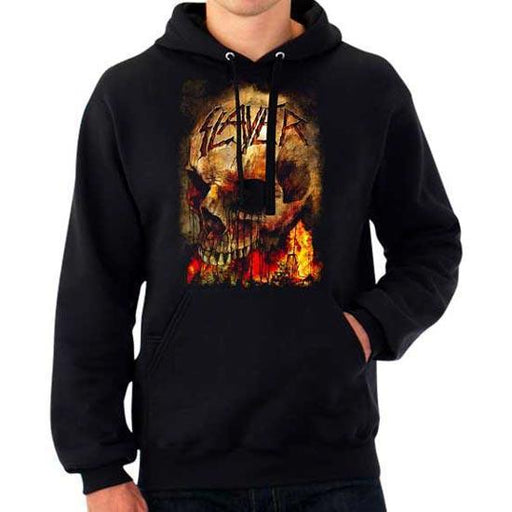 Hoodie - Slayer - Fire Skull - Pullover-Metalomania