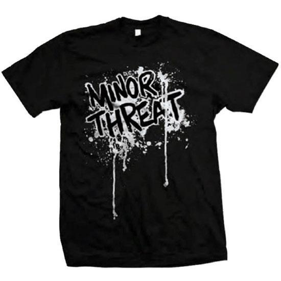T-Shirt - Minor Threat - Drips - Logo-Metalomania