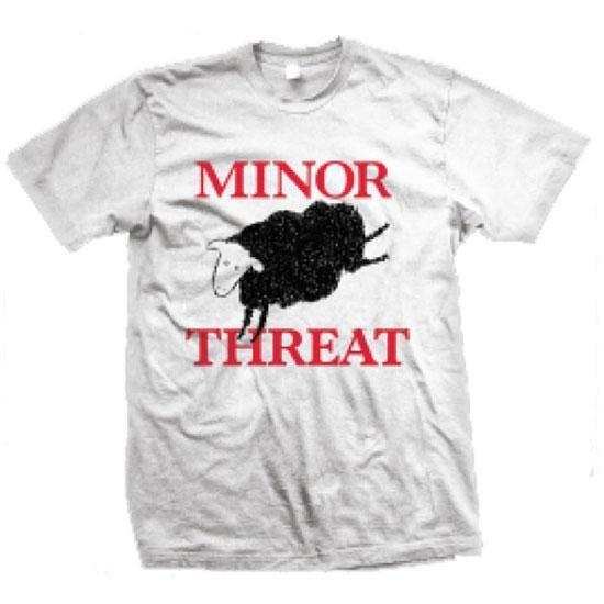 T-Shirt - Minor Threat - Black Sheep - White-Metalomania