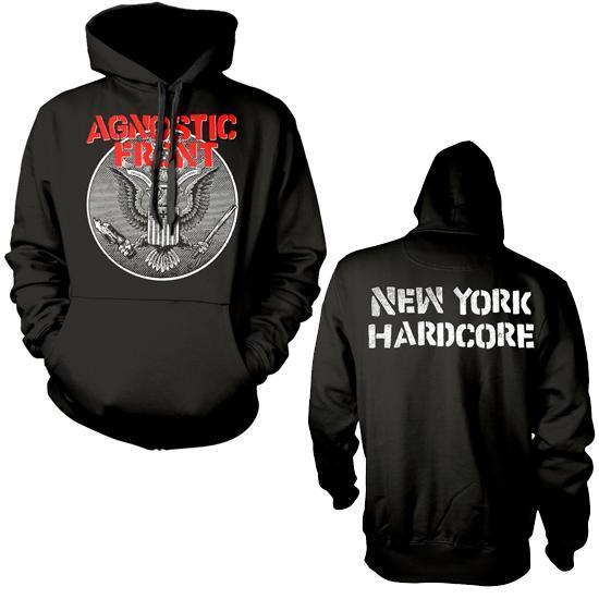 Hoodie - Agnostic Front - Against All Eagle - Pullover-Metalomania