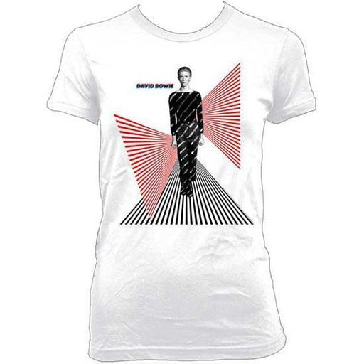 T-Shirt - David Bowie - Perspective - White - Lady-Metalomania
