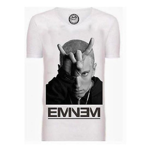 T-Shirt - Eminem - Finger Horns - White
