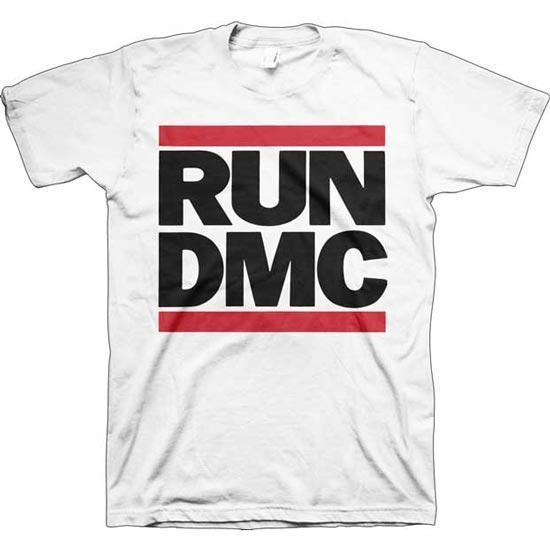 T-Shirt - Run DMC - Classic Logo - White-Metalomania