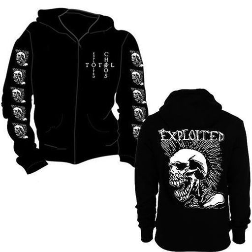 Hoodie - The Exploited - Mohican Skull - Zip-Metalomania