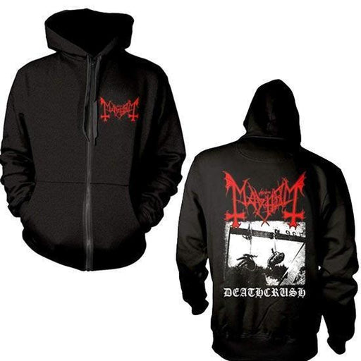 Hoodie - Mayhem - Deathcrush (black) - Zip-Metalomania
