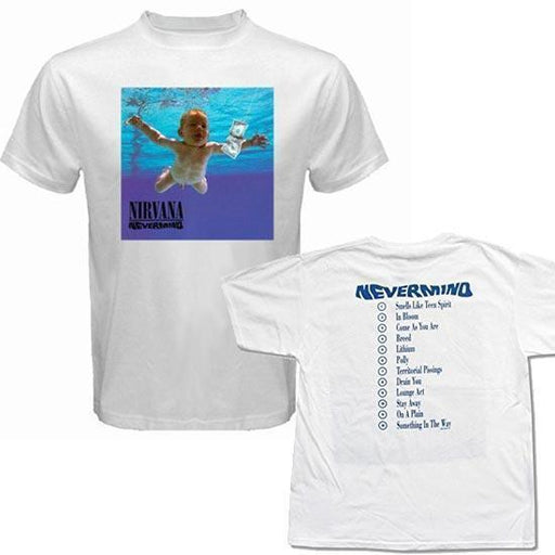 T-Shirt - Nirvana / KC - Nevermind W/Back Print - White-Metalomania