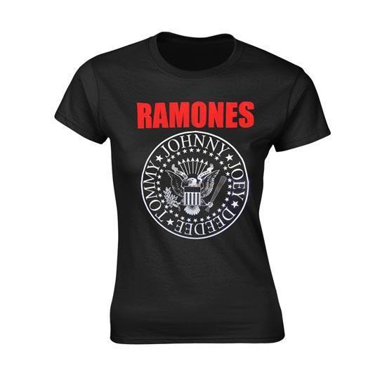 T-Shirt - Ramones - Red Text Seal - Lady-Metalomania