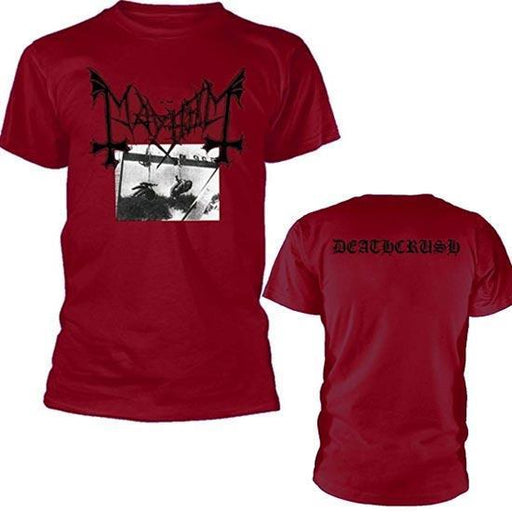 T-Shirt - Mayhem - Deathcrush - With Back - Dark Red