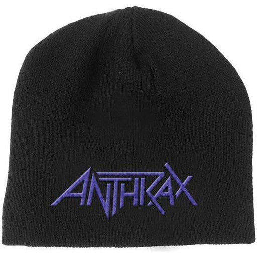 Beanie - Anthrax - Purple Logo-Metalomania