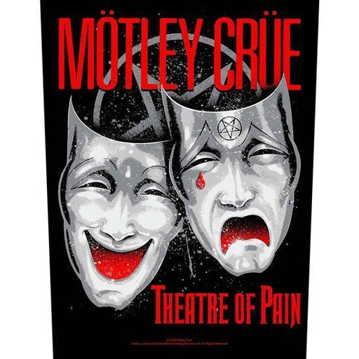 Back Patch - Motley Crue - Theatre of Pain-Metalomania