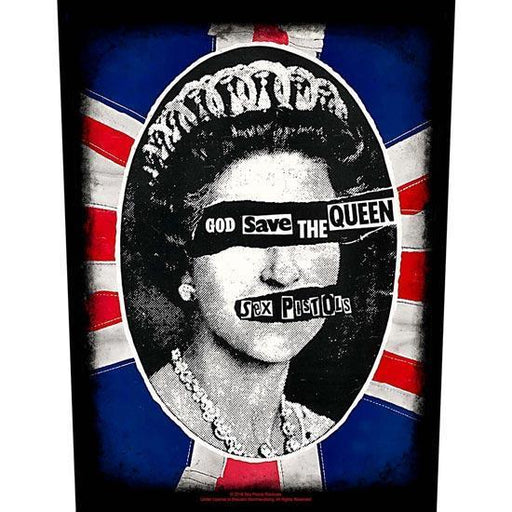 Back Patch - Sex Pistols - God Save The Queen-Metalomania