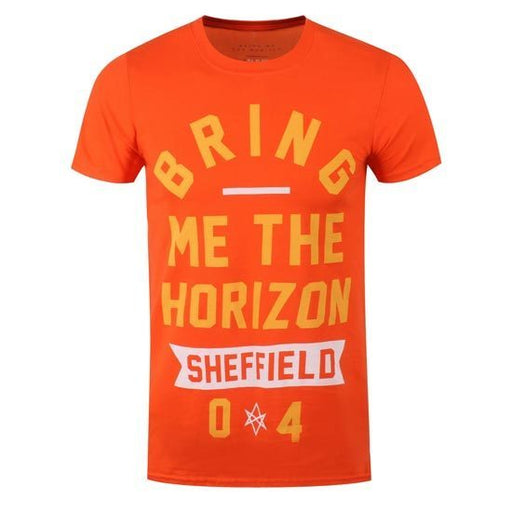 T-Shirt - Bring Me The Horizon - Sheffield Big Text - ORANGE-Metalomania