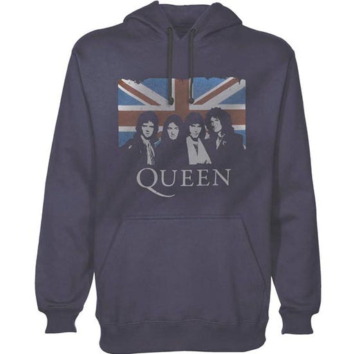Hoodie - Queen - Union Photo - Grey-Blue-Metalomania