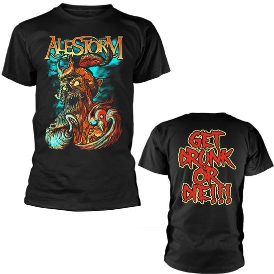 T-Shirt - Alestorm - Get Drunk or Die-Metalomania