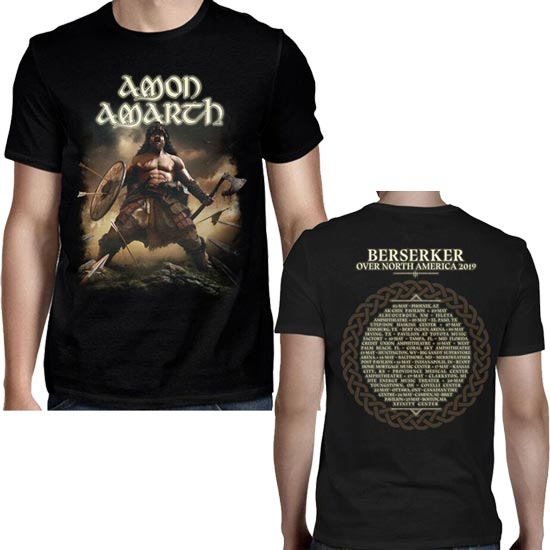 T-Shirt - Amon Amarth - Berserker Tour 2019 W/Back-Metalomania