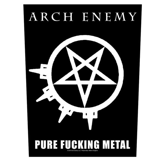 Back Patch - Arch Enemy - Pure Fucking Metal-Metalomania