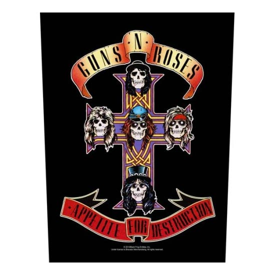 Guns N Roses - Appetite for Destruction (Back Patches)-Metalomania