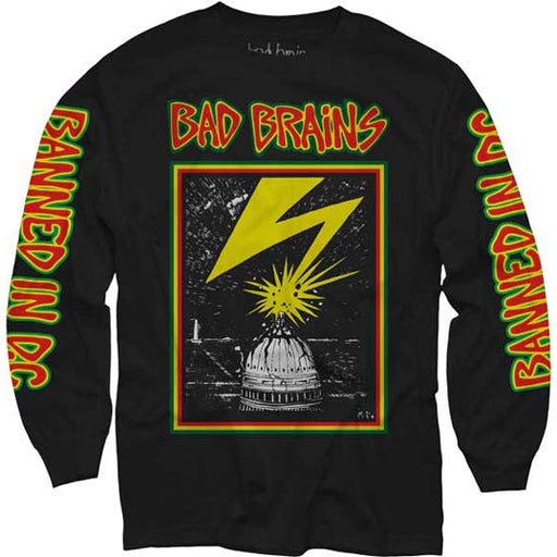 Long Sleeve Shirt - Bad Brains - Capitol on Black-Metalomania