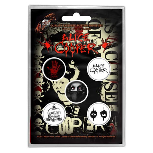 Button Badge Set - Alice Cooper - Eyes