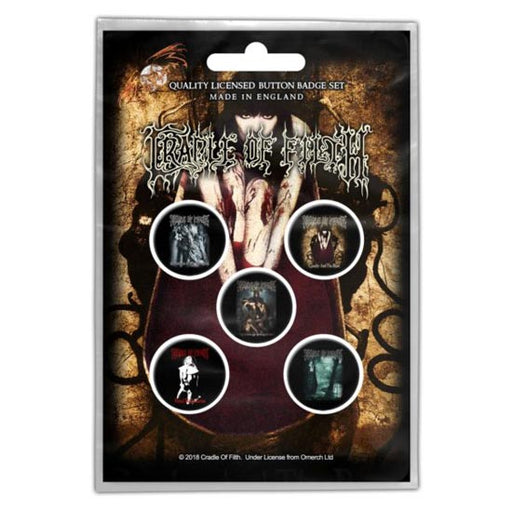 Button Badge Set - Cradle of Filth - Albums