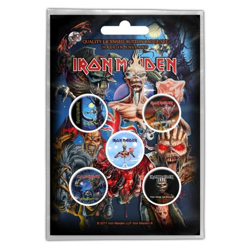 Button Badge Set - Iron Maiden - Later Albums