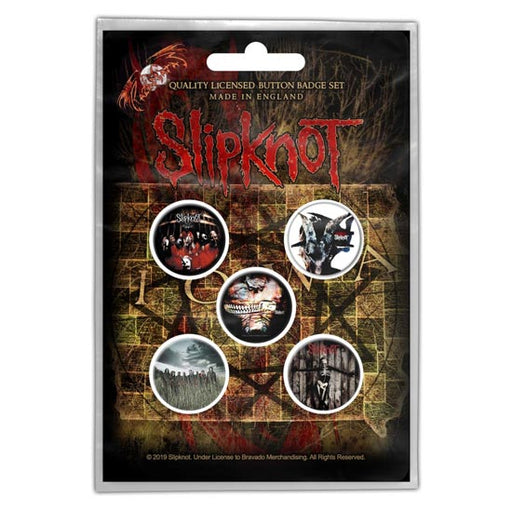 Button Badge Set - Slipknot - Albums