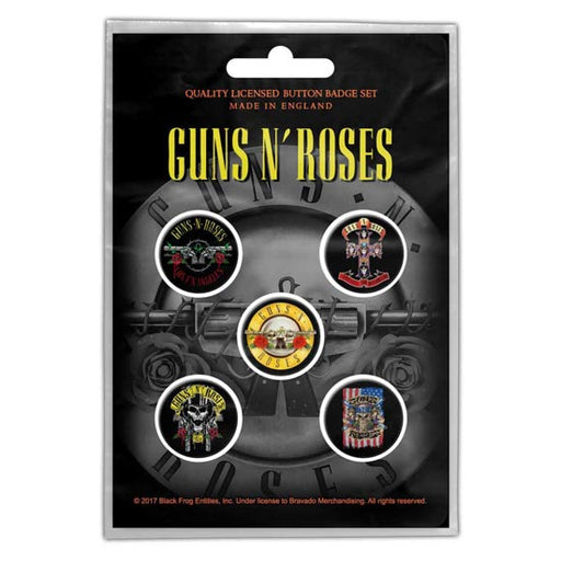 Button Badge Set - Guns N Roses - Bullet Logo