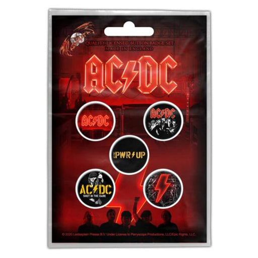 Button Badge Set - ACDC - PWR UP