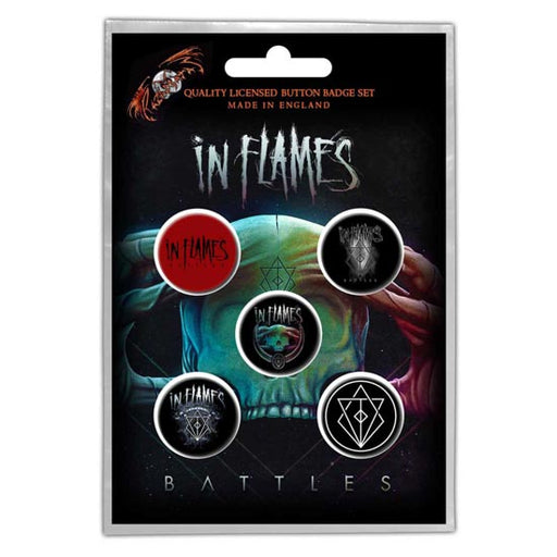 Button Badge Set - In Flames - Battles