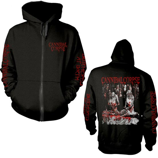 Hoodie - Cannibal Corpse - Butchered at Birth - Explicit - ZIP-Metalomania
