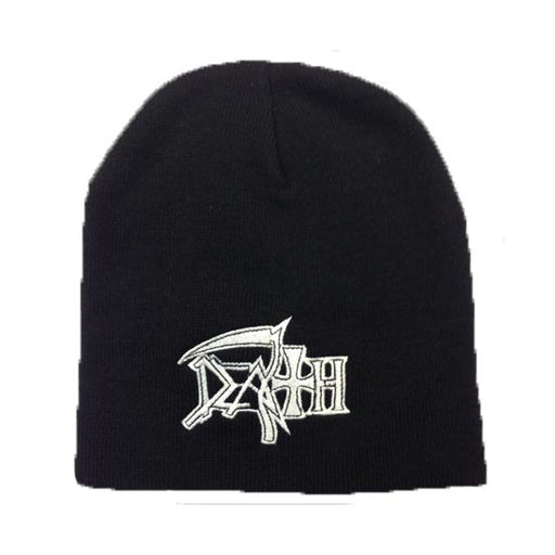 Beanie - Death - Logo (white)-Metalomania