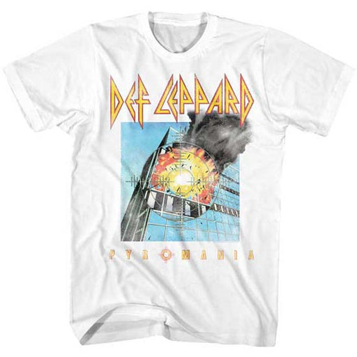 T-Shirt - Def Leppard - Faded Pyromania - White