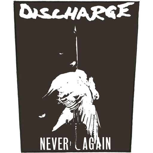 Back Patch - Discharge -  Never Again