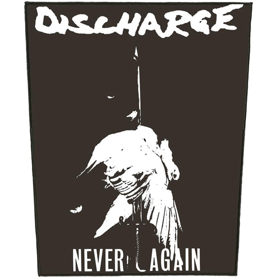 Back Patch - Discharge - Never Again-Metalomania