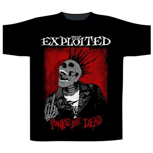 T-Shirt - The Exploited - Punks Not Dead - Splatter