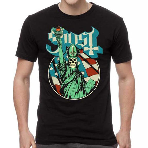 T-Shirt - Ghost - Blue Statue-Metalomania