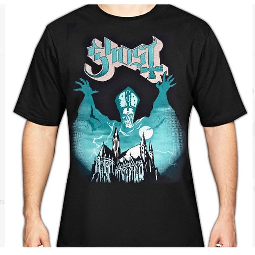 T-Shirt - Ghost - Opus - Blue Letters-Metalomania