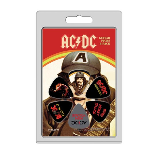 Guitar Picks - ACDC - 6 Pack Version 1-Metalomania