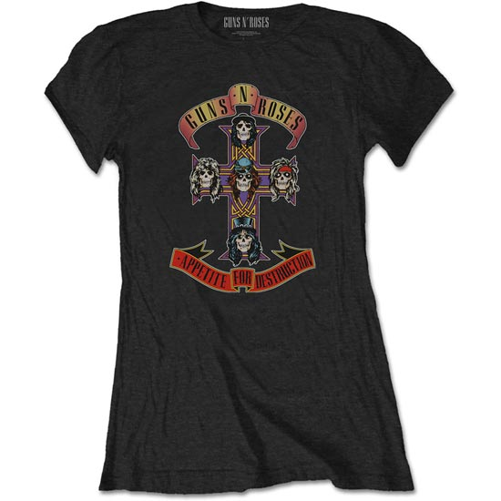 T-Shirt - Guns N Roses - Appetite for Destruction - Lady-Metalomania