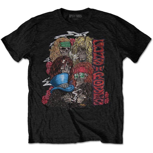 T-Shirt - Guns N Roses - Stacked Skulls