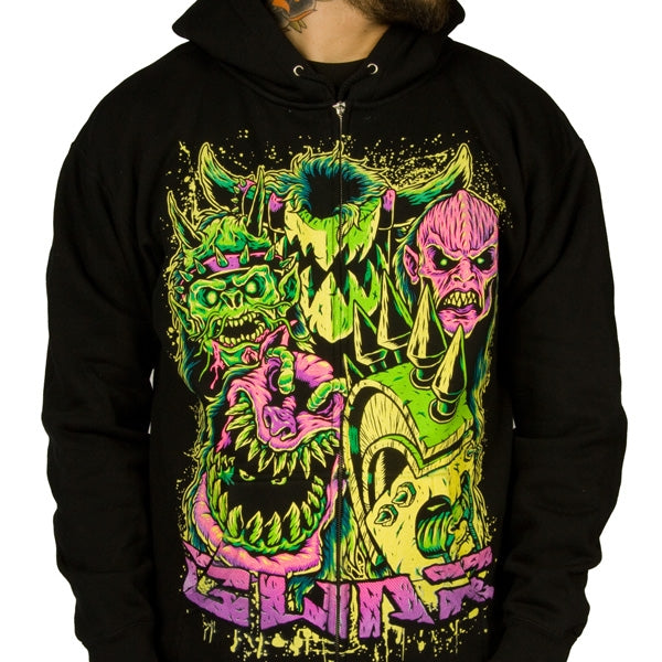 Hoodie - GWAR - Faces - Zip-Metalomania