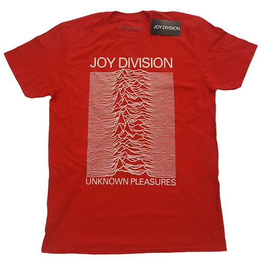 T-Shirt - Joy Division - Unknown Pleasures - Red