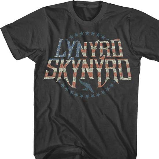 T-Shirt - Lynyrd Skynyrd - Stripes & Stars Logo-Metalomania