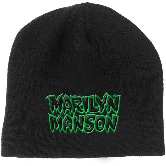 Beanie - Marilyn Manson - Green Logo-Metalomania