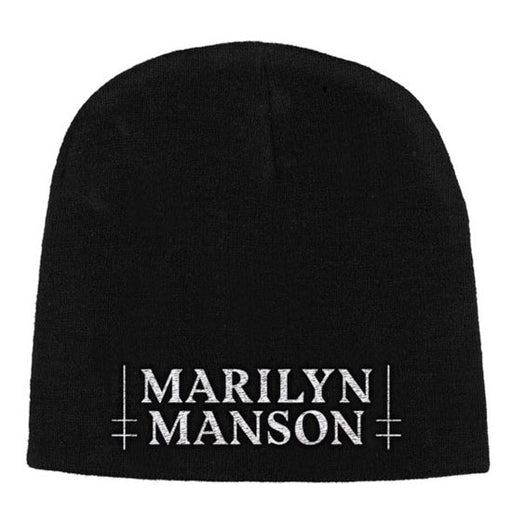 Beanie - Marilyn Manson - Logo in White