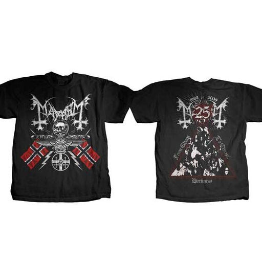 T-Shirt - Mayhem - 25 Years Coat of Arms-Metalomania