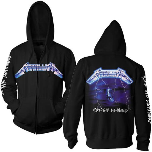 Hoodie - Metallica - Ride The Lightning W/Back - Zip