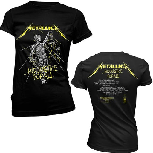 T-Shirt - Metallica - And Justice For All Tracks - Lady