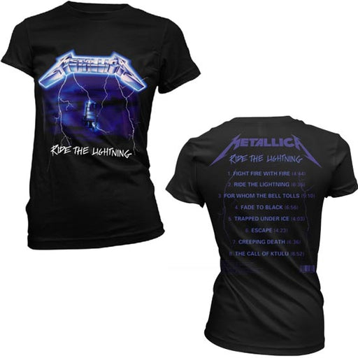 T-Shirt - Metallica - Ride The Lightning Tracks - Lady