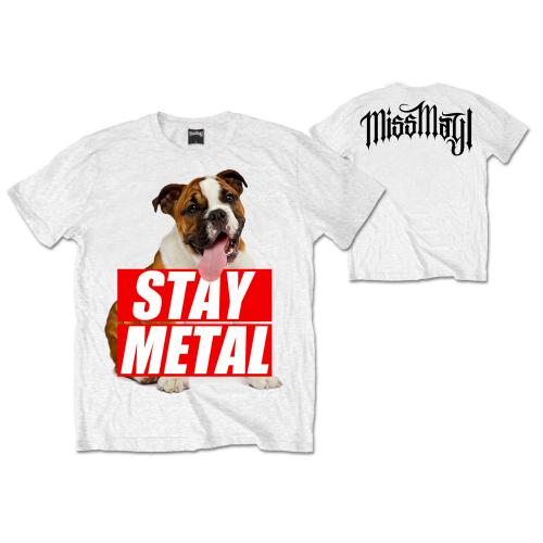 T-Shirt - Miss May I - Bull Dog - White